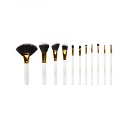 BH Cosmetics White Dot Collection Brush Set - 11 Piece
